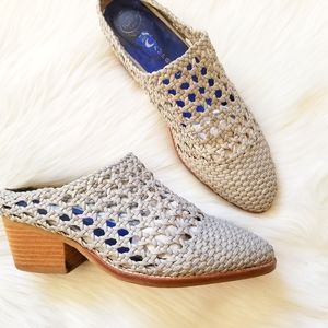 Jeffrey Campbell Armadillo Woven Sandal Mule